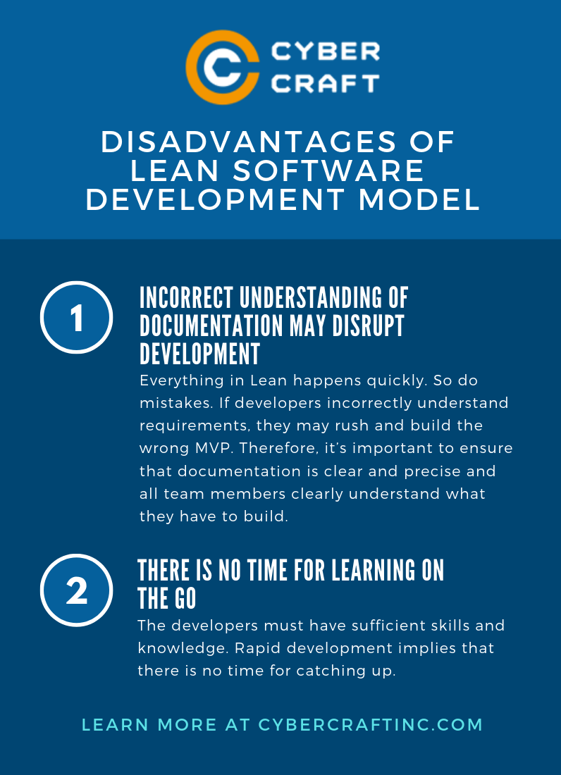 Disadvantages of Lean Model